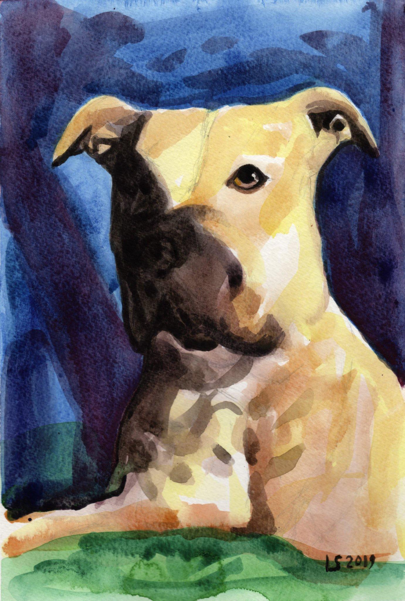 Ritratto di Nna -acquerello- watercolor - luca sanna
