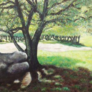Paesaggio con alberi, Sa Fraigada