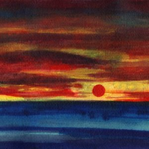 Red sunset, sole rosso, tramonto