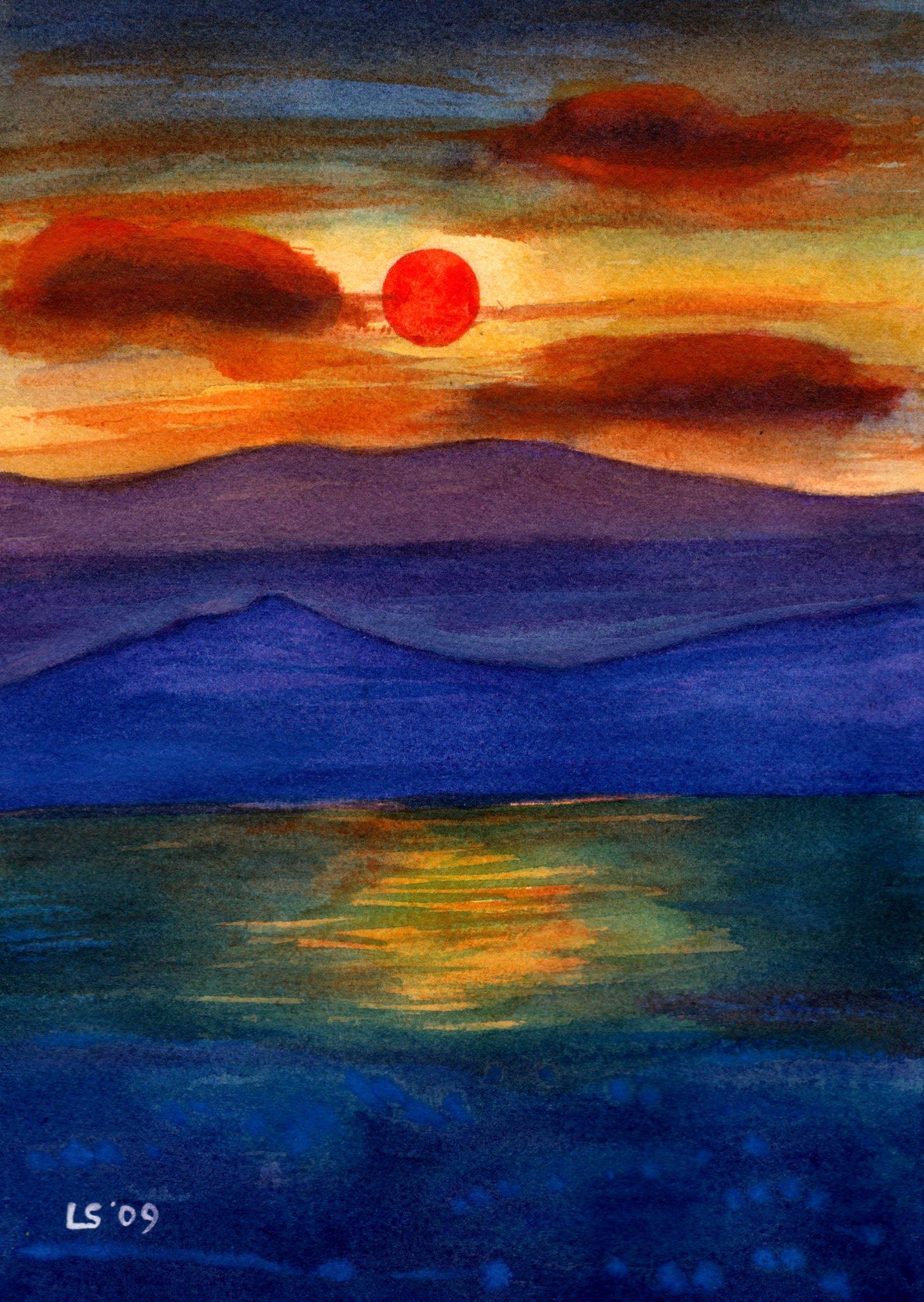 Red sunset Luca Sanna
