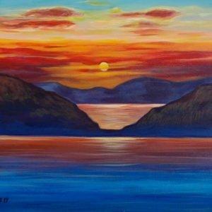 tramonto acrilico Luca Sanna